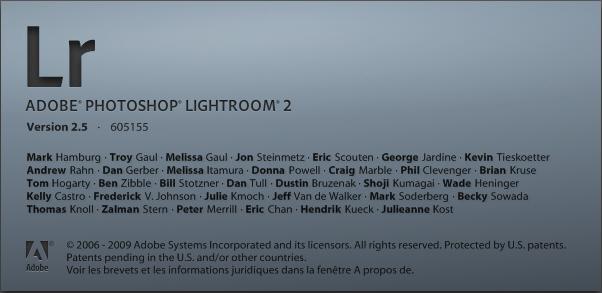 Lightroom accueil