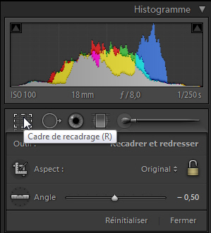 Lightroom Recadrage
